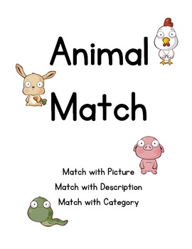 Match and Categorize Animals