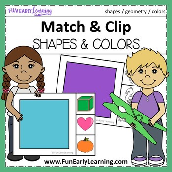 Match and Clip Shapes & Colors