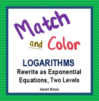 Rewriting Logarithms: Match and Color, Two Levels