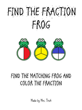 Match and Color Fraction Frogs