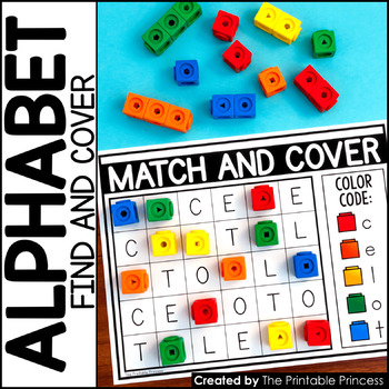 Match and Cover {Alphabet Activities to Teach Letter Recognition}