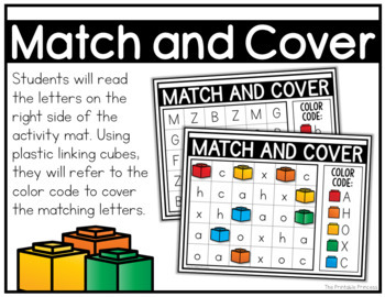 Match and Cover Uppercase/Lowercase {Alphabet Activities for Letter Recognition}