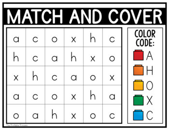 Match And Cover Uppercase Lowercase Alphabet Activities