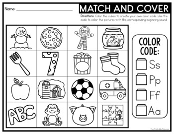 Match and Cover {Beginning Sounds Activity}