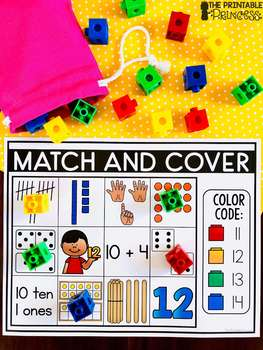 Match and Cover {Kindergarten Math: Numbers 11 - 20}