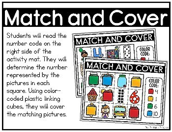 Match and Cover {Kindergarten Math: Numbers to 10}