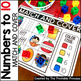Match and Cover Kindergarten Math: Numbers to 10