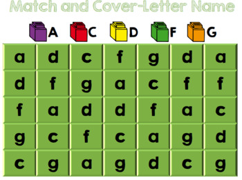Match and Cover - Letter Name Practice
