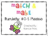 Match and Make Numbers 0-5 FREEBIE