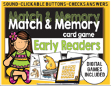 Match and Memory Game - Early Readers- Digital Games