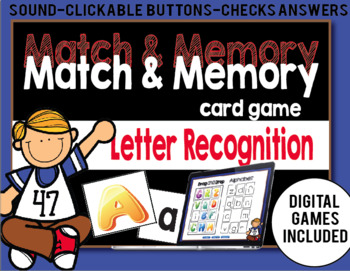 Match and Memory Game - Letter Recognition-Digital Games