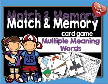 Match and Memory Game - Multiple Meaning Words