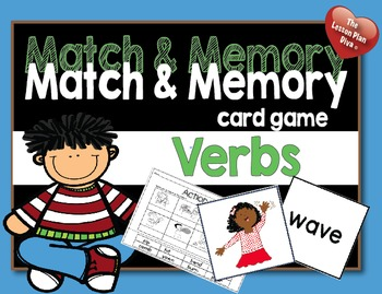 Match and Memory  Game - Verbs