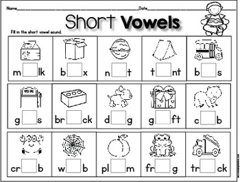 Match and Memory Game- Short Vowels
