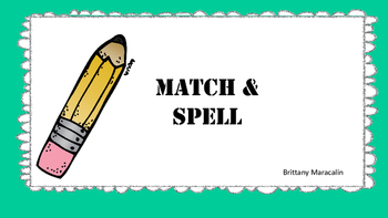 Match and Spell (picture cards)
