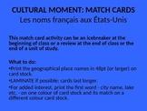 Match cards: Les noms français aux États-Unis