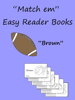 """Match em"" Easy Reader: Brown"