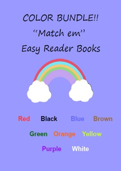 """Match em"" Easy Reader: COLOR BUNDLE"