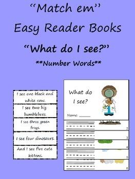 """Match em"" Easy Reader: What do I see?"