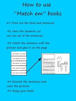 """""""Match em"""" Easy Reader: White"""