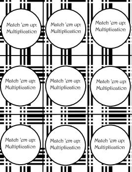 Match 'em Up Multiplication Game