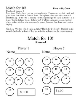 Match for 10 Game