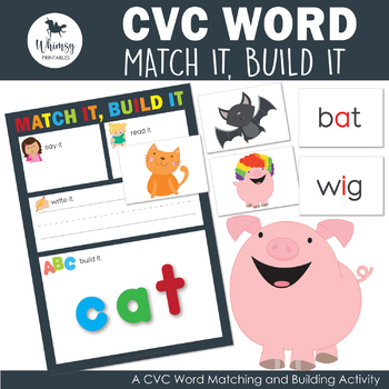 Match it, Build it - CVC Words