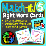 Sight Word Card Game (Dobble, Spot It type game) Set5