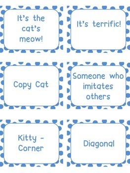 Figurative Language Game - Cats