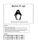 Match it Up - Practice range, mean, median, and mode