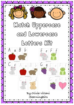 Match lowercase and uppercase letters - modern victorian cursive