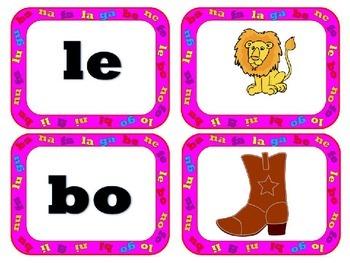 Match mine: Spanish Syllables B, N, F, L y G Coincidir conmigo