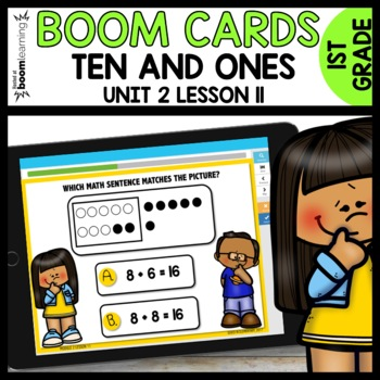 Match picture to number sentences  BOOM CARDS [Module 2 Lesson 11]