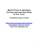 Match pictures to Dolch word sentences