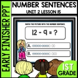 Early Finishers Activities | Match pictures with number sentences