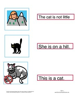 Match sentence to picture- Reading Mastery K Lessons 60-100