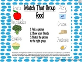 Match that Group! FOOD: Game for naming, sorting, categori