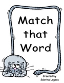 Match that Word CVC File Folder Game