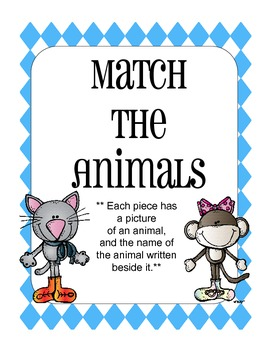 Match the Animals
