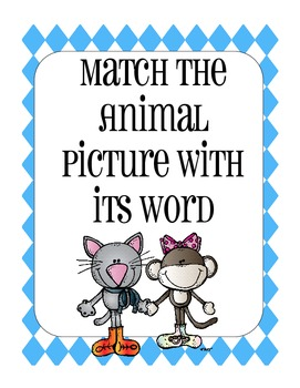 Match the Animals to their Name Pack