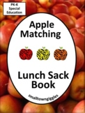 Apple Matching Lunch Sack Book Special Education Preschool