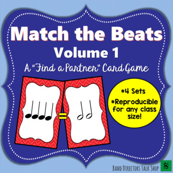 "Music Game Rhythm Activities ""Match the Beats"" Game Vol. 1"
