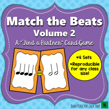 "Match the Beats Game Vol. 2 (A ""Find a Partner"" Game) – 4 Sets!"
