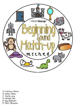 Beginning Sound Match-up - Hearing Initial Sounds- MRCHED