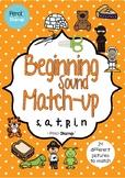 Beginning Sound Match-up - Hearing Initial Sounds- SATPIN