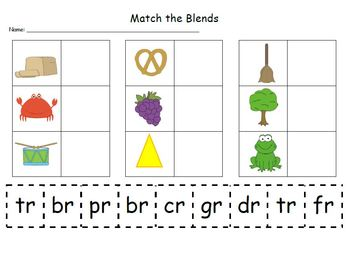 Match the Blends & Where Do You Hear /r/?