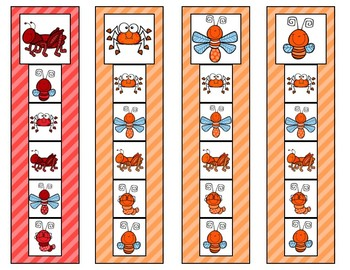 Match the Bugs Strip Clip Cards