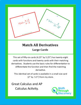 Calculus:  Match the Cards - All Derivatives