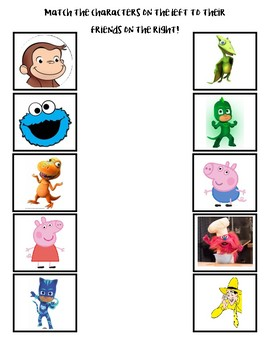 Match the Characters to their friends