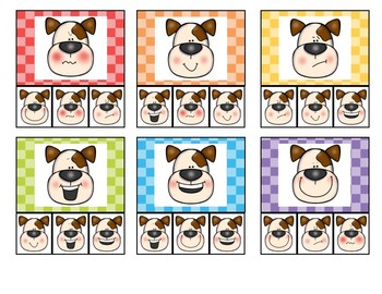 Match the Chick-Penguin-Dog Clip Cards